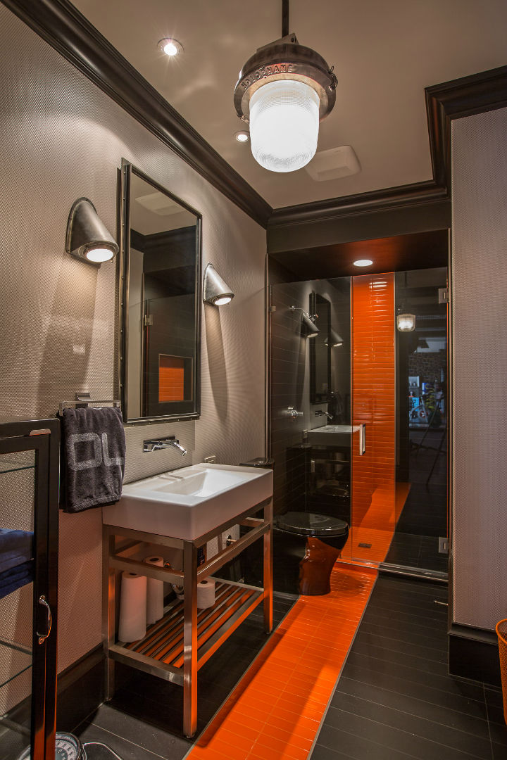 Orange And Black Bathroom Techieblogie Info