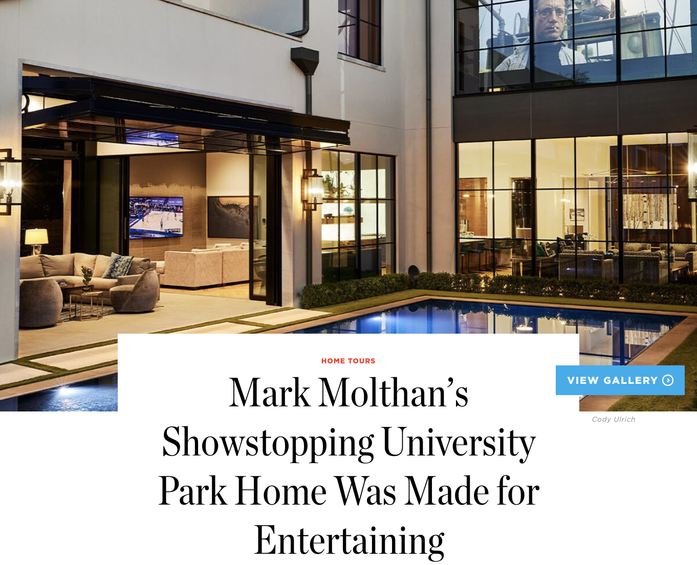 DALLAS MODERN LUXURY - Platinum Series Homes by Mark Molthan